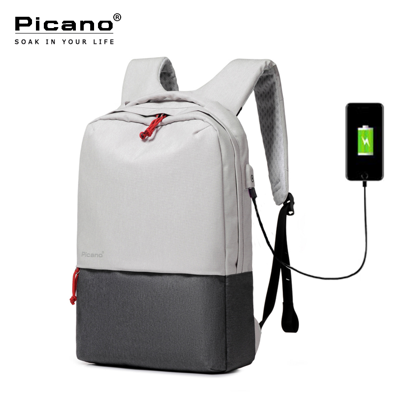 Picano Waterproof Backpack USB Charging 15 6 Laptop Backbag For Men Women Travel Backpacks Teenage Girl