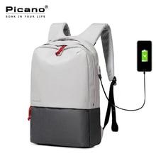 Picano 2017 Design Lässig Reise Laptop Rucksack Mit Usb-ladeanschluss Männer Frauen Business Rucksäcke Jugendliche Daypack PCN001