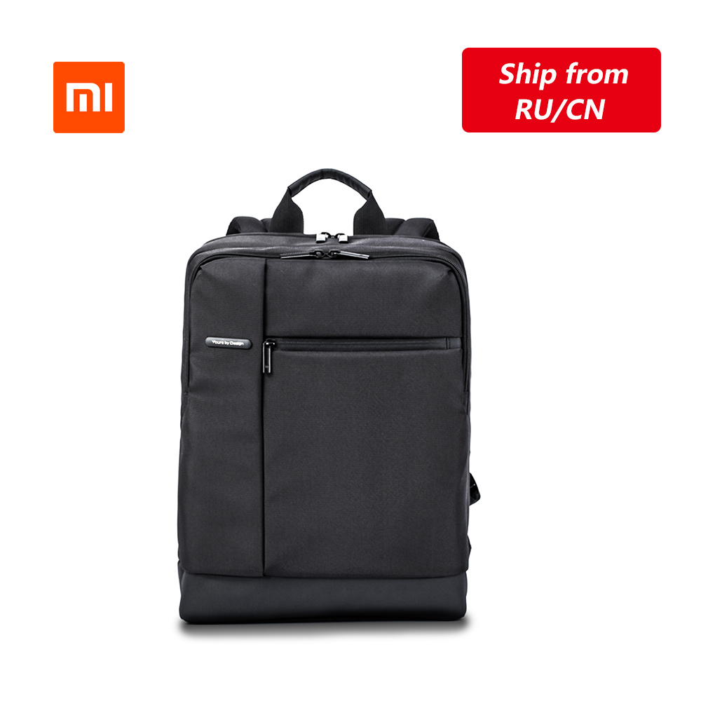 Original Xiaomi Classic Business <font><b>Backpack</b></font> Teenagers Bag Large Capacity School <font><b>Backpack</b></font> Students Bags Suitable For 15inch Laptop image