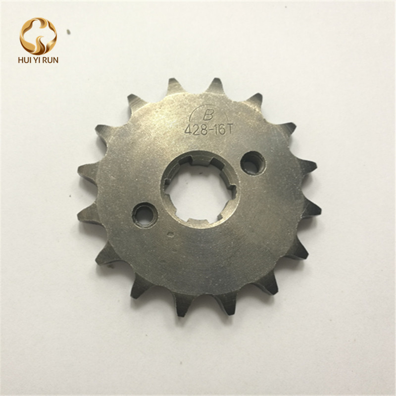 Front Engine Sprocket 428# 16Teeth 20mm For 428 Chain With Plate Locker Motorcycle Dirt Bike PitBike ATV Quad Parts image
