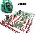 BOHS Embalado Saco Homem Set 238 pçs/set Soldados Do Exército Treinamento Base Militar A Partir De Um Lote De Crianças Brinquedo Figura de Ação