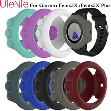 Fashion soft silicone protective case for Garmin fenix 5X/5X Plus sports watch cases with dust plug protection accessories