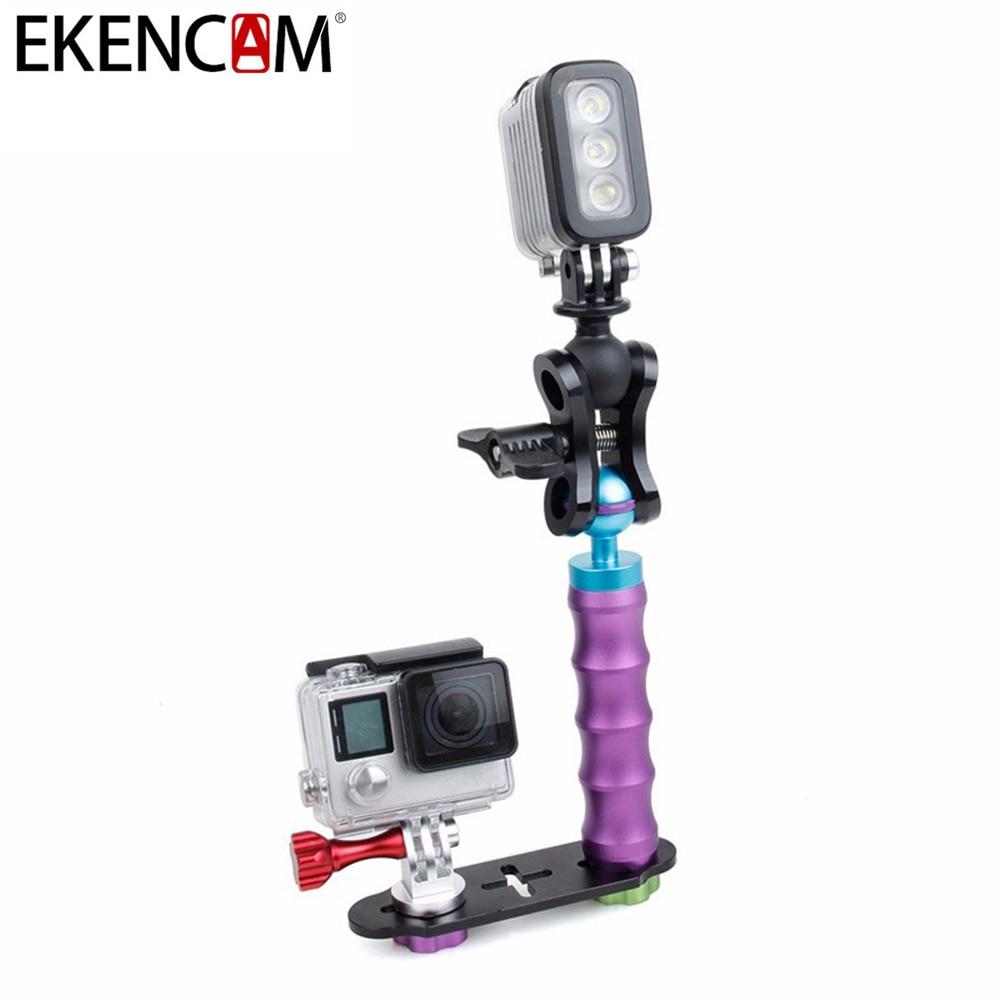 EKENCAM CNC En Alliage D'aluminium Selfie Bâton Trépied pour Xiaomi Yi 4 K SJCAM SJ4000 H9 C30 pour GoPro Hero 6 4 5 Session D'action Caméra