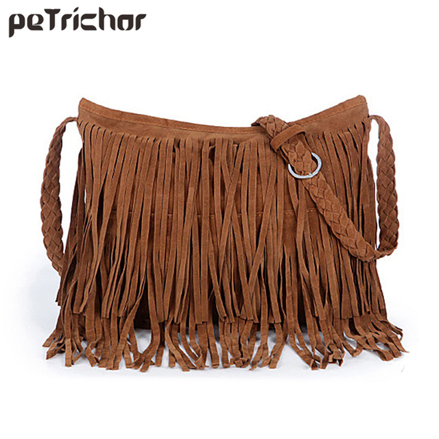 1536367ac469 Hot Summer Faux Suede Women Shoulder Bag Fringe Tassel Purse Vintage  Messenger Bag Female Crossbody Purses Ladies Bolsa