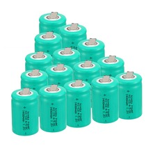 Anmas Power 1/4/6/10/12/15Pcs 1.2V 1400mAh Rechargeable Battery Green Ni-CD 4/5 Sub C Ni-CD Cell with Welding Tabs все цены