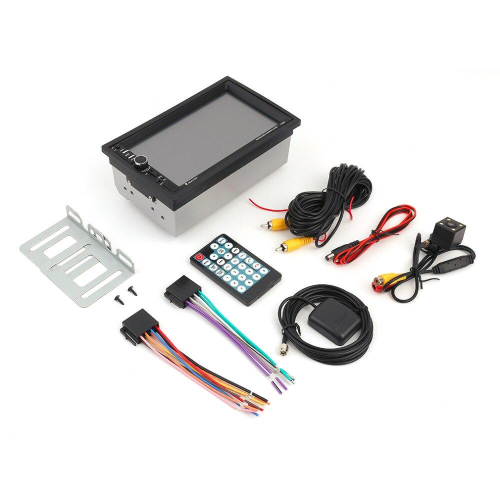 Cimiva 7-дюймовый 7020G Bluetooth Автомобильный аудио стерео mp5-плеер с камерой заднего вида Сенсорный экран GPS функции навигации FM-12В