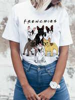 """2018 модная футболка с принтом """"Французский Бульдог"""", женская футболка с изображением собак и животных, летняя Высококачественная хипстерска..."""