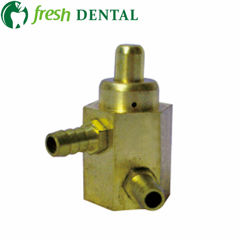 5PCS Dental foot valve 2 holes circular pedal swicth valve foot control switch valve Dental Valve copper 3mm SL1217