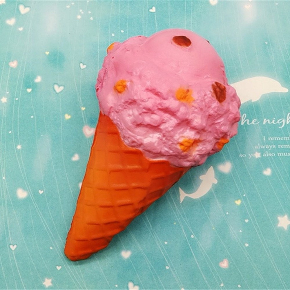 Cute Big Ice Cream Bread Squishy Slow Rising Jumbo Squeeze Anti stress Stretch Bread Kids Toy Gift Random Color