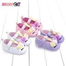 Baby Shoes Walking Soft Bottom Newborn Shoe Cotton-padded Magic Applique Girl  Free Shipping