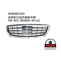 High Quality ABS Chrome Front Middle Grille For Mercedes MAYBACH STYLE Benz S Class W222 S65 S500 2014 2017