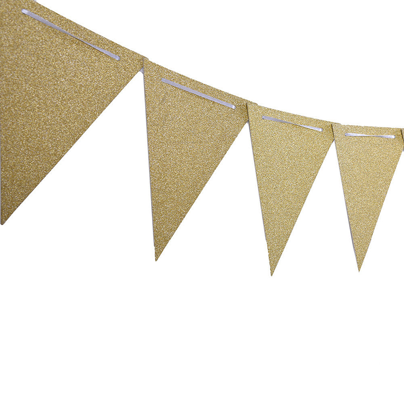 Paper Hanging Decoration Party Wedding Placement Ornaments Silver Gold Shining Banners Children Room Wall Decor Party Supplies27-2