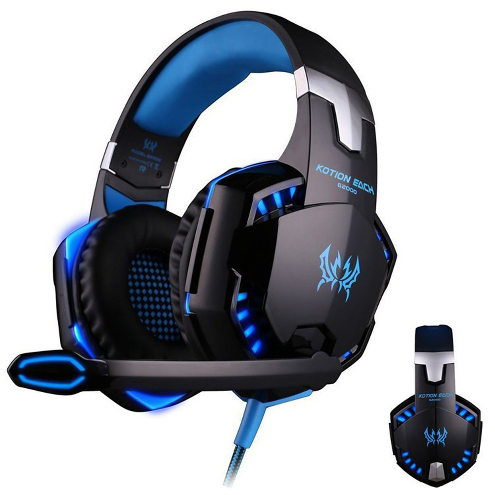YCDC EACH G2000 3.5mm Earphone Gaming Headset Gamer PC Headphhone Gamer Stereo Gaming Headphone With Microphone Led For Computer kotion each g2000 gaming headset pc gamer headphones headphone for computer auriculares fone de ouvido with microphone led light