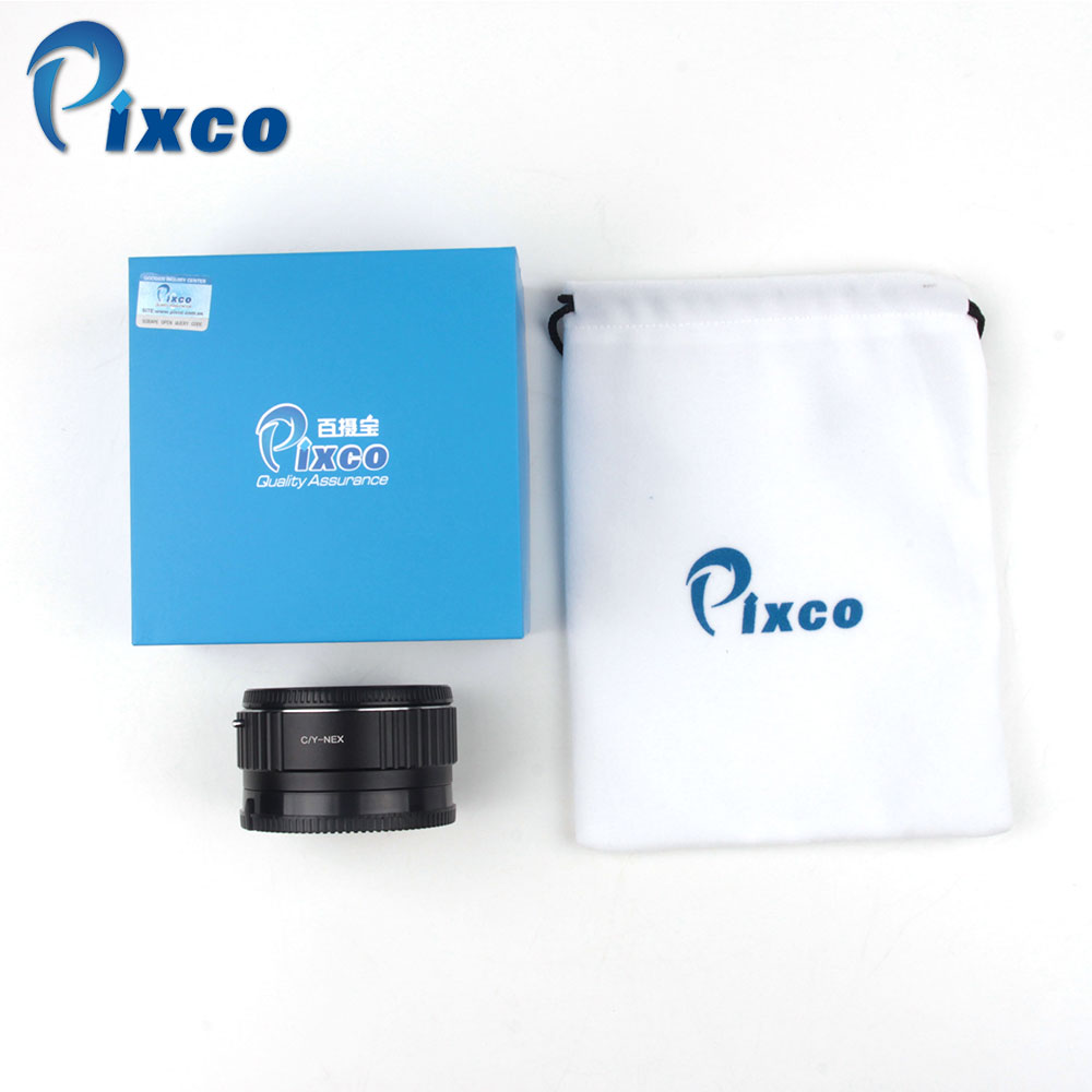 Pixco Focal Reducer Speed Booster Lens Mount Adapter Suit For Contax for Yashica Lens to for Sony NEX A5000 A3000 Dropshipping