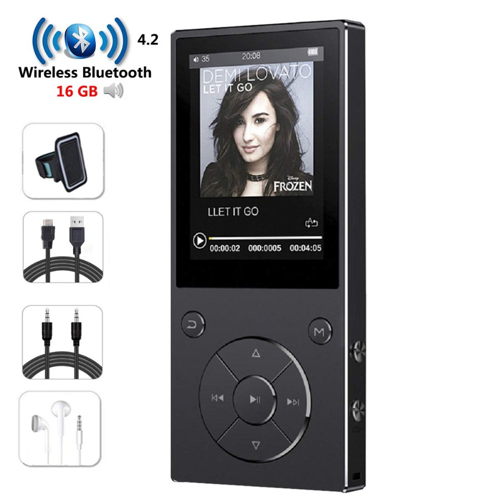 16GB MP3 Player With Bluetooth 2.4 Inch Color Screen,Lossless Metal Bluetooth Music Players With Speaker,FM Radio/Voice Recorder