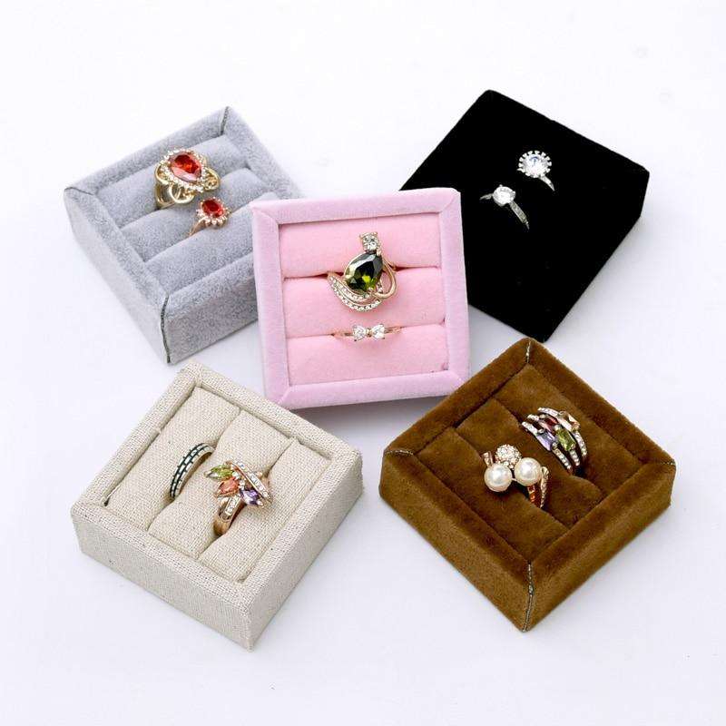 Mini Ring display Tray Velvet Ring Display Holder Ring Display Rack