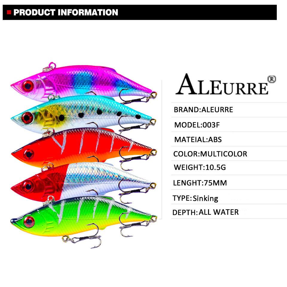 Image 2 - 7.5cm/10.5g Fishing Lure Vibration Swing Sink Hard Bait Long Shot Plastic Wobbler Crankbait Rattlin VIB Artificial Lures-in Fishing Lures from Sports & Entertainment