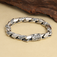 Handmade Thailand 925 Siilver Bracelet Sterling Silver Man Bracelet Pure Silver Chain Bracelet