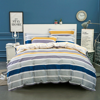 Wongsbedding 100 Cotton Stripe Duvet Cover Sets Quality Bedding Set Twin Full Queen King Size 3