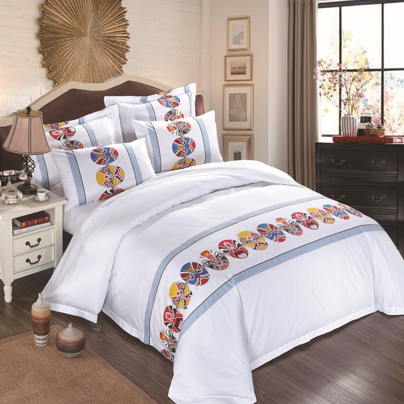 Bedding Set 4 Pieces Solid Color Satin jacquard Traditional chinese Quilt cover Sheet Pillowcase Suitable for Home And HotelBedding Set 4 Pieces Solid Color Satin jacquard Traditional chinese Quilt cover Sheet Pillowcase Suitable for Home And Hotel