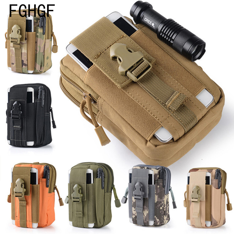 Men Tactical Outdoor Camping Bags Molle Pouch Belt Waist Bag Military Pack Running Travel Wallet Backpack