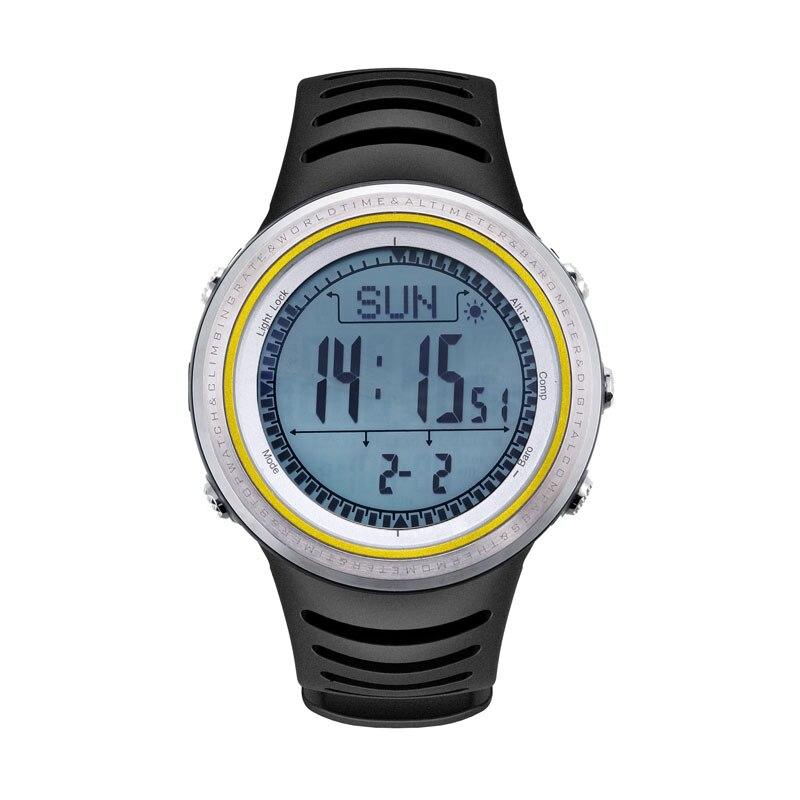 SUNROAD الرجال الرياضة الرقمية Watch 5TM للماء مقياس الارتفاع مقياسا المشي تشغيل السباحة الساعات ساعة البوصلة عداد الخطى-في ساعات رقمية من ساعات اليد على  مجموعة 2