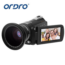 ORDRO HDV D395 30FPS Camcorder HDMI 1080 P FHD WIFI Digital Video kamera Nachtsicht 18X Zoom Touch Screen 72mm Weitwinkelobjektiv
