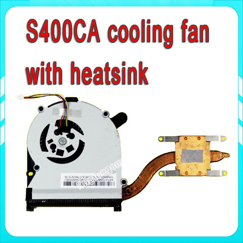 laptop Integrated CPU cooling heatsink&fan for Asus S400 S400C S400CA Notebook CPU Radiator free shipping original for asus laptop heatsink cooling fan cpu cooler k52 k52j a52j a52j x52j cpu heatsink