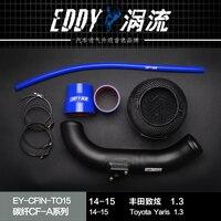 High Performance Intake Air Filter Carbon Fiber Air Intake System For 2014 Toyota Yaris L 1