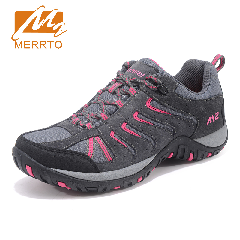 Merrto 2017 Walking Shoes For Women Breathable Outdoor Sneakers Climbing Sports Shoes Non-slip Travel Athletic Shoes MT18693 2018 merrto womens outdoor walking sports shoes breathable non slip travel shoes for women purple rose red free shipping mt18665