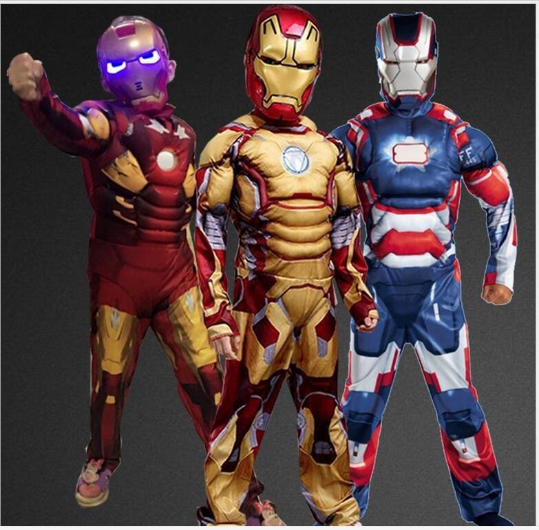 Teen Kids Marvel Comics Avengers Superhero Iron Man Robot Morph Bodysuit Costume