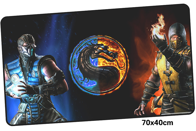 mortal kombat mousepad gamer 700x400X3MM gaming mouse pad large wrist rest notebook pc accessories laptop padmouse ergonomic mat