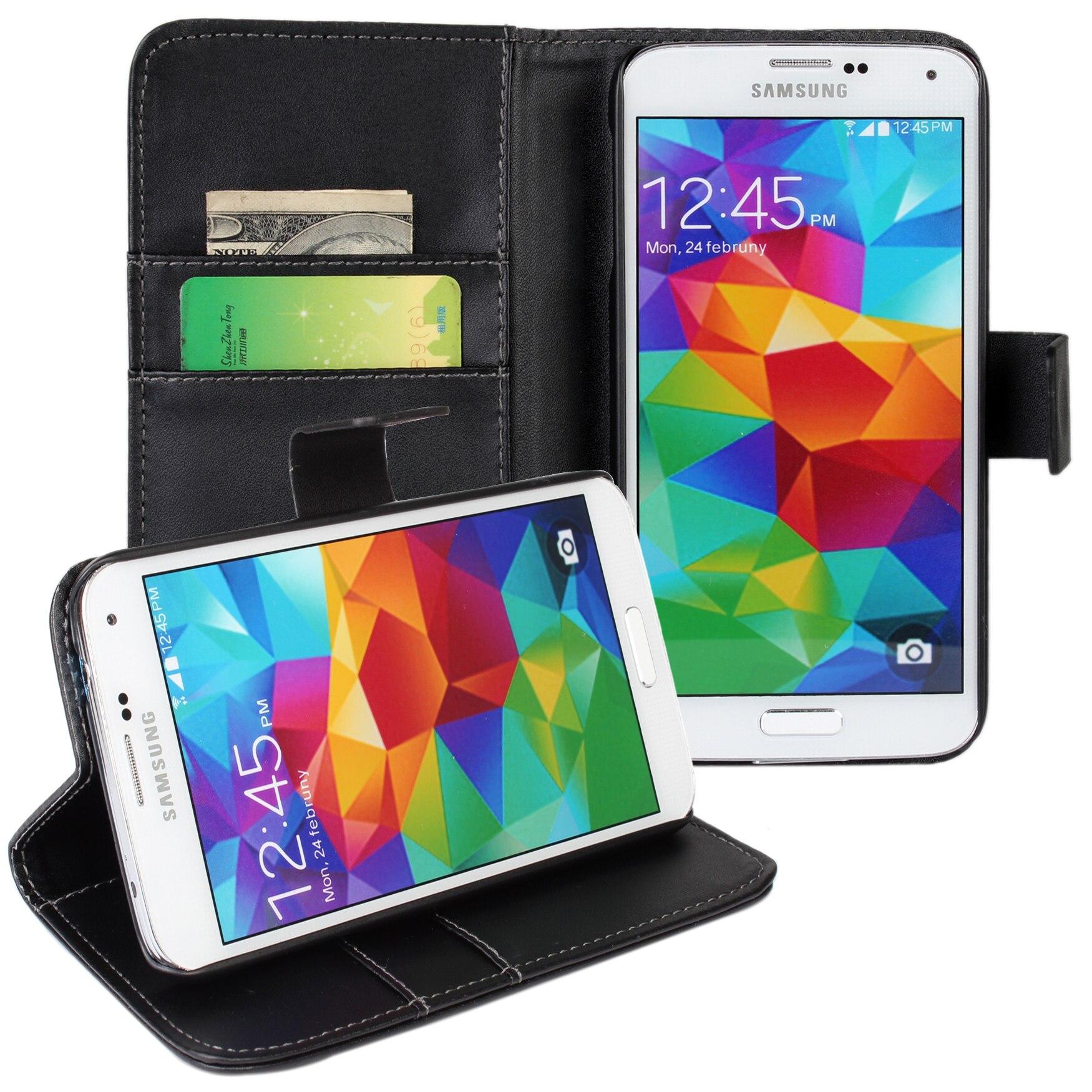 Tirón de la carpeta funda para el samsung galaxy s5 teléfono móvil accesorios de