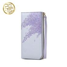 Pmsix Wallets For Women Luxury Brand Fashion Popular Designer Floral Wristlet Wallet Purse Clutch Zipper Long