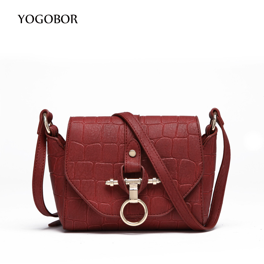 New Arrival Vintage Women Trapeze Bag Alligator Pattern Women Leather Handbags Ladies Party Shoulder Bag Fashion Messenger Bags
