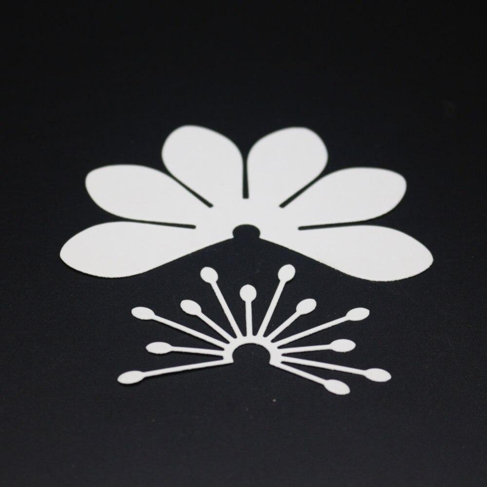 Estel 2pc collage flower metal Scrapbooking Cutting Die Craft Scrapbooking Embossing Dies Cut Die Stencils DIY card Decor