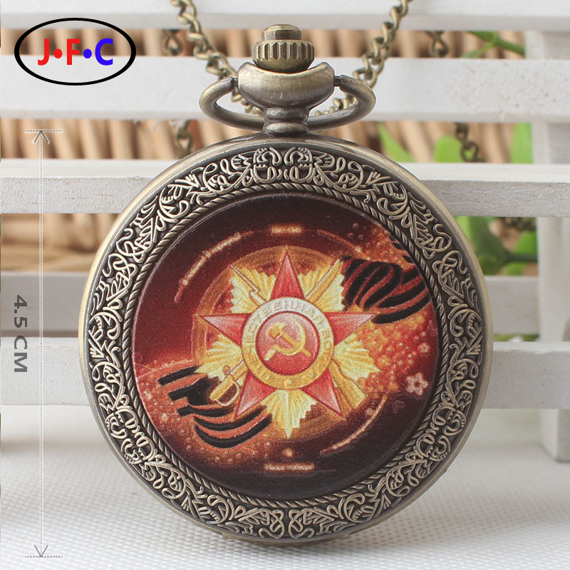 New pattern Russia pattern Patch quartz pocket Watch Middle aged and old age Retro Watch Chain table Student gift list DS287 european and american movies aladdin and the magic lamp quartz pocket watch do the old flip quartz watch chain table ds274