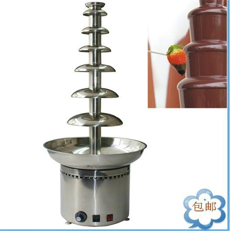 110V/220V Electric Commercial Chocolate Fountain Machine 7 Layers Chocolate Waterfall Machine EU/AU/UK/US Plug цена