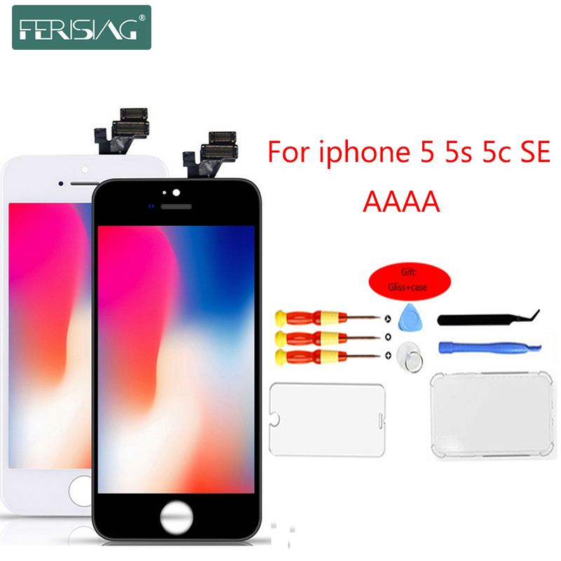 2019 OEM 100% AAAA <font><b>Original</b></font> <font><b>LCD</b></font> Screen For <font><b>iPhone</b></font> <font><b>5S</b></font> 5 SE 5C Screen <font><b>LCD</b></font> Display Digitizer Touch Module <font><b>5S</b></font> SE Screens Replacement image