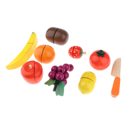 Kitchen Cutting Fruits Toy, Kids Pretend Food Playset for Children Life Skills Educational Toys