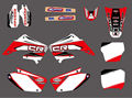 0030 New Style TEAM GRAPHICS&BACKGROUNDS DECALS STICKERS Kits for HONDA CR125 CR250 2002 2003 2004 2005 06 07 08 09 10 11 2012