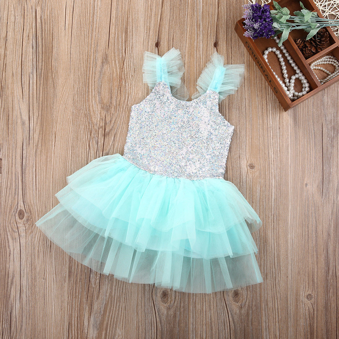 Toddler Newborn Baby Kids Girls Dress Wedding Party Gown Pageant ...