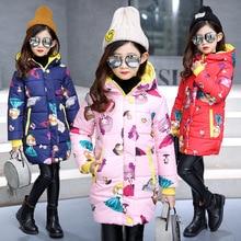 Coat Jacket Outerwear Parkas Girls Winter Children Warm Cartoon Fashion Long Hooded
