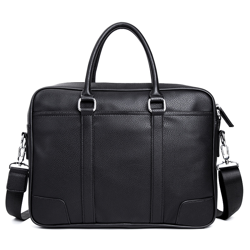 2019 New Promotion Simple Famous Brand Business Men Briefcase Bag Luxury Leather Laptop Bag Man Shoulder Bag Bolsa Maleta