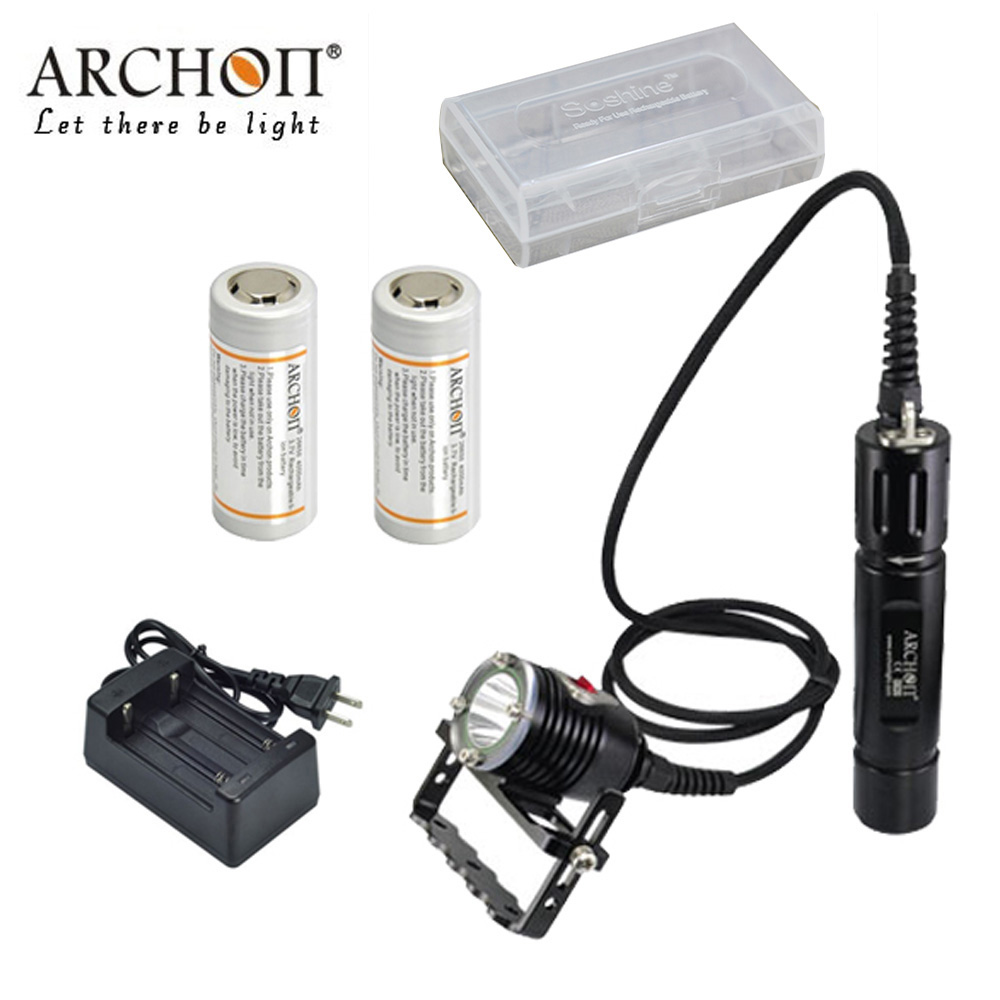 ARCHON WH32 DH26 Diving Light CREE XM-L2 U2 LED max 1100 lumen waterproof 100 meter Dive light underwater photography Canister Люмен