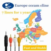 1 год Европа cccam cline для Испании Швеция Германия Польша Португалия линии IKS рецепторов share server HD DVB-S2 C-line через USB Wifi