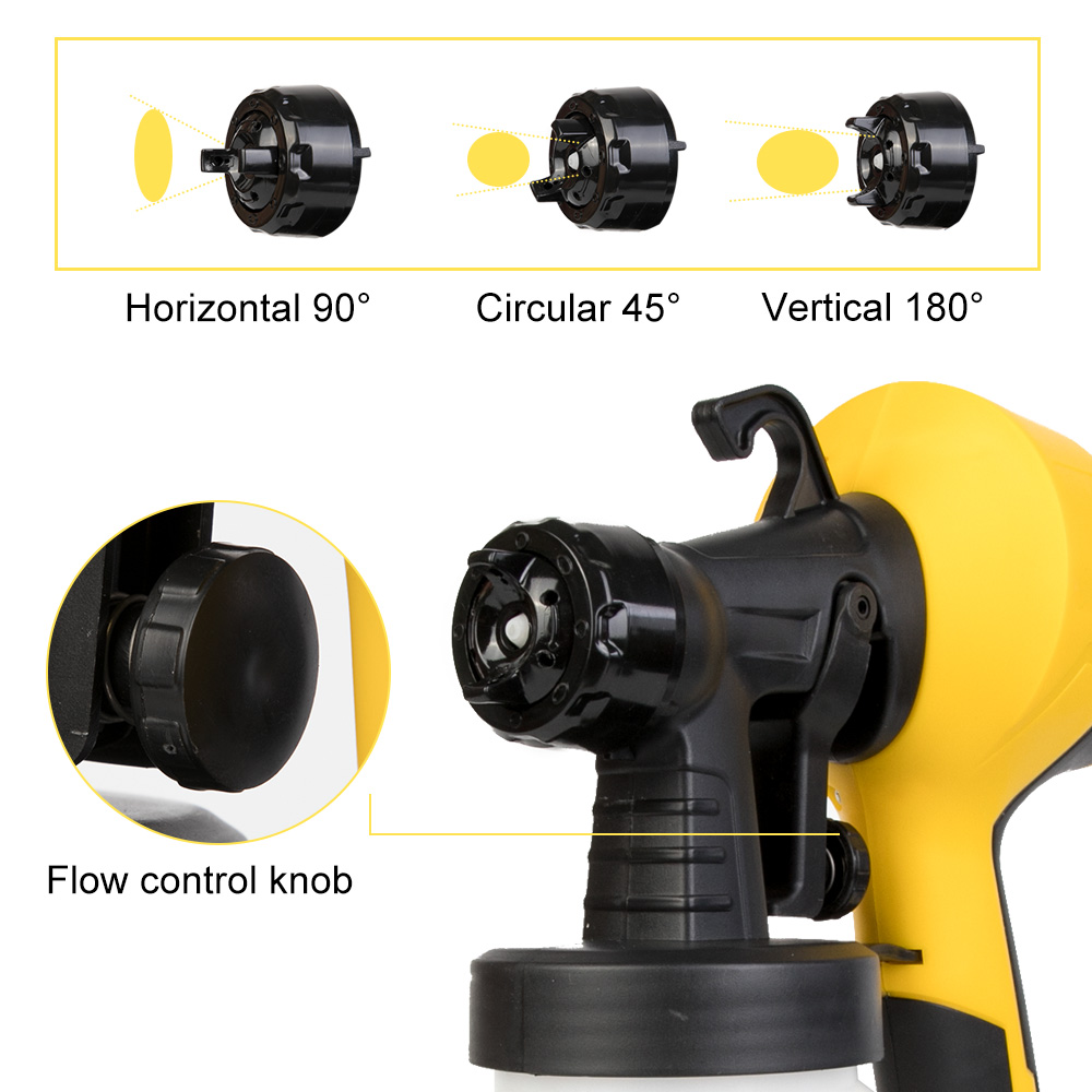Image 4 - 800ML 2.5MM Nozzle Handheld Spray Gun Paint Sprayers Power Paint Gun For Clean Up Spray Pesticide Flow Control Electric Airbrush-in Spray Guns from Tools on
