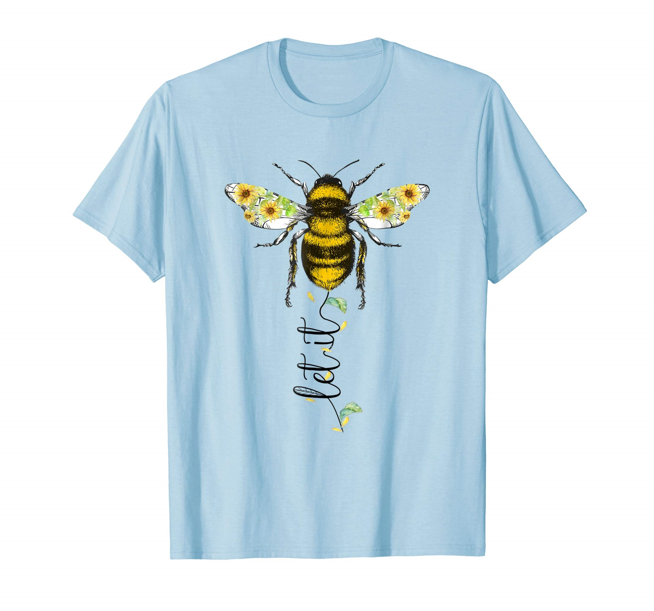 Let it be bee hippie flower zone T shirt for men men High quality men's T-shirt fashion summer T-shirt