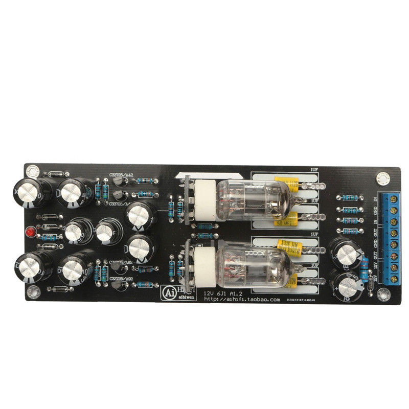 Assembled 6J1//6AK5 Vacuum /& Valve Tube Preamplifier Stereo HiFi Pre-Amp Board