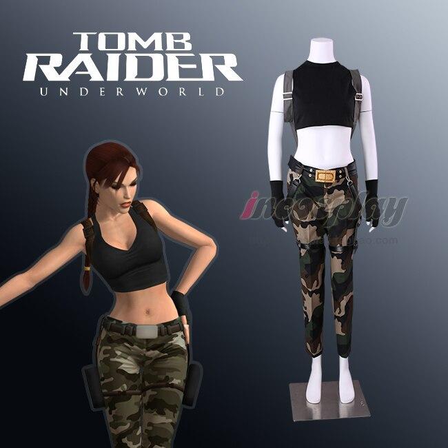 Lara Croft Cosplay Costume Tomb Raider Lara Croft Costume halloween costume custom made